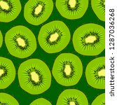 kiwi seamless pattern. endless... | Shutterstock .eps vector #1287036268