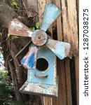 bird home in nature garden   Shutterstock . vector #1287038275