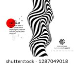 black and white design. pattern ... | Shutterstock .eps vector #1287049018