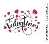 happy valentine's day... | Shutterstock .eps vector #1287050218