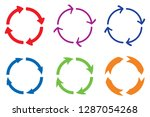circle arrows. colored signs.... | Shutterstock . vector #1287054268
