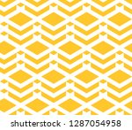 seamless yellow and white... | Shutterstock .eps vector #1287054958