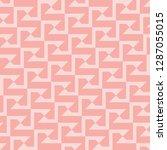 seamless pink vintage aztec... | Shutterstock .eps vector #1287055015