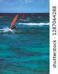 windsurfers  mokuleia beach ... | Shutterstock . vector #1287064288