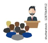 business man tribune speech... | Shutterstock .eps vector #1287064912
