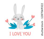 vector illustration with cute... | Shutterstock .eps vector #1287069322
