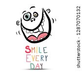 smile every day slogan with... | Shutterstock .eps vector #1287070132