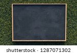 blackboard on gras background ... | Shutterstock . vector #1287071302