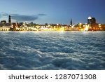winter background with blurred... | Shutterstock . vector #1287071308