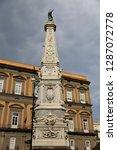 san domenico obelisk in naples... | Shutterstock . vector #1287072778