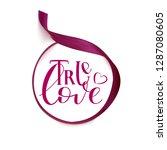 true love   isolated on white... | Shutterstock .eps vector #1287080605