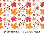 leaf maple  horse chestnut  elm ... | Shutterstock .eps vector #1287087565