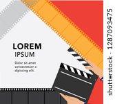 movie and film modern retro...   Shutterstock .eps vector #1287093475