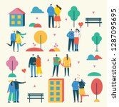 vector illustration in flat... | Shutterstock .eps vector #1287095695