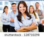 Businesswoman Leading A...