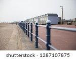 a rustic metal seaside...   Shutterstock . vector #1287107875