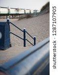 a rustic metal seaside...   Shutterstock . vector #1287107905