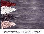 red kidney beans lima beans... | Shutterstock . vector #1287107965