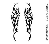 tribal tattoo design template | Shutterstock .eps vector #1287108052