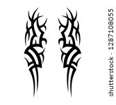 tribal tattoo design template | Shutterstock .eps vector #1287108055