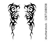 tribal tattoo design template | Shutterstock .eps vector #1287108058