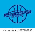 march madness basketball sport...   Shutterstock .eps vector #1287108238