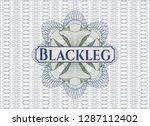 blue and green passport money... | Shutterstock .eps vector #1287112402