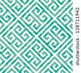 seamless emerald greek key... | Shutterstock .eps vector #128711942