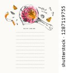recipe card template with ink... | Shutterstock .eps vector #1287119755