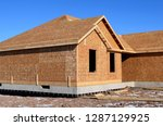 new home house construction... | Shutterstock . vector #1287129925