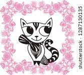 cat. vector illustration | Shutterstock .eps vector #1287130135