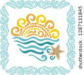 sea and sun. vector illustration | Shutterstock .eps vector #1287131845