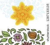 sun and flowers. vector... | Shutterstock .eps vector #1287133135