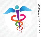 hospital icon colorful concept. ... | Shutterstock .eps vector #128714648
