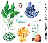 underwater creatures.... | Shutterstock . vector #1287149515