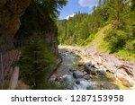 hiking trail along kaiserklamm... | Shutterstock . vector #1287153958