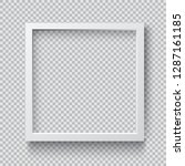 photo realistic square white... | Shutterstock .eps vector #1287161185