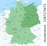 map of germany  with german... | Shutterstock .eps vector #1287175672