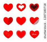 heart mini red | Shutterstock . vector #1287180718