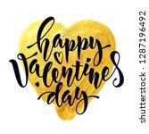 """""""happy valentines day"""" vector...   Shutterstock .eps vector #1287196492"""