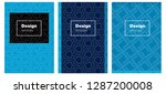 dark blue vector pattern for...