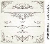 vintage frames and scroll... | Shutterstock .eps vector #128720372