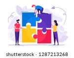 business concept. team metaphor.... | Shutterstock .eps vector #1287213268