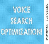 writing note showing voice... | Shutterstock . vector #1287218302