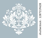 damask graphic ornament. floral ... | Shutterstock .eps vector #1287219628