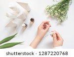 dermatologist testing organic... | Shutterstock . vector #1287220768