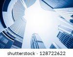 modern business center in... | Shutterstock . vector #128722622