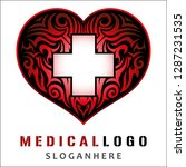 medical logo design vector eps10 | Shutterstock .eps vector #1287231535