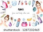 spa treatment banner on white... | Shutterstock . vector #1287232465