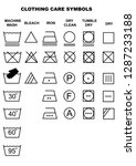 clothing care symbols. set of... | Shutterstock .eps vector #1287233188
